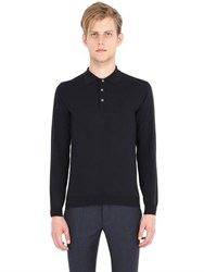 Incotex Flexwool Long Sleeve Polo Sweater