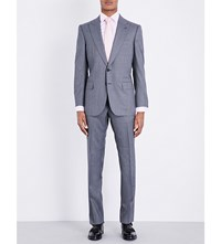 Gieves And Hawkes Regular Fit Wool Suit Blue