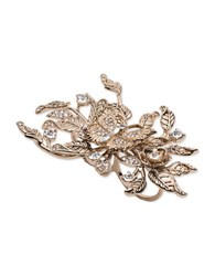 Marchesa Floral Rose Double Finger Ring Gold