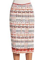 Donna Karan Woven Pencil Skirt Ivory Multi