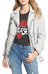 Levi's Oversize Denim Jacket With Faux Shearling Trim Grey