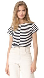 Loup Heart Embroidered Tee Stripe