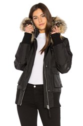 Nicole Benisti Fordham Bomber Down Jacket With Gold Fox And Asiatic Rabbit Fur Black