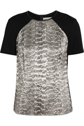 Jason Wu Snake Print Stretch Jersey Top