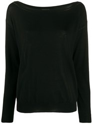 P.A.R.O.S.H. Knitted Boat Neck Jumper 60