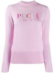 Emilio Pucci Embroidered Logo Wool Jumper 60