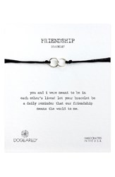 Dogeared Women's Double Linked Friendship Bracelet Black Silver