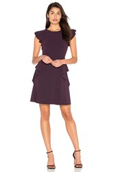 Rebecca Taylor Ruffle Dress Purple