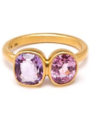 Marie Helene De Taillac Spinel And Amethyst Princess Duet Ring Pink And Purple