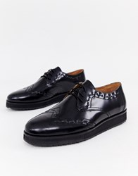 House Of Hounds Warg Derby Shoes In Black