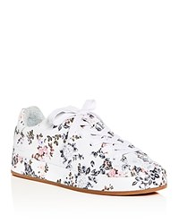 Rag And Bone Women's Floral Print Leather Lace Up Platform Sneakers Garden Floral