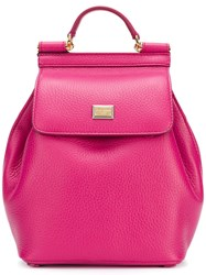 Dolce And Gabbana Mini Sicily Backpack Pink And Purple