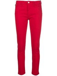 Love Moschino Cropped Skinny Jeans Red