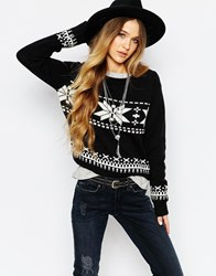 Blend She Crystal Pullover Black