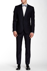 Ben Sherman Camden Two Button Notch Lapel Wool Suit Blue