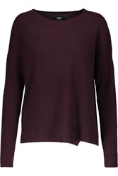 Line Spencer Ribbed Cashmere Sweater Merlot