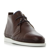 Oliver Sweeney Islingword Leather Wrap Chukka Boots Brown