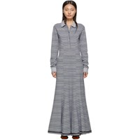 Y Project Grey Stripe Polo Dress