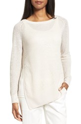 Nordstrom Women's Collection Asymmetrical Linen And Silk Sweater