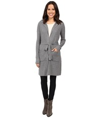 Lamade Benette Hooded Belted Cardigan Light Heather Grey Women's Sweater Silver