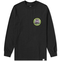 Bedwin And The Heartbreakers Long Sleeve Morris Tee Black