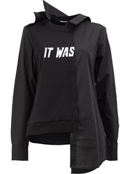 Moohong It Was Print Sweatshirt Black
