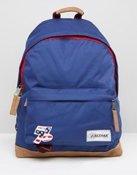 Eastpak Wyoming Vintage Backpack In Blue Blue