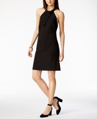 Tommy Hilfiger Bow Detail Halter Dress Only At Macy's Black
