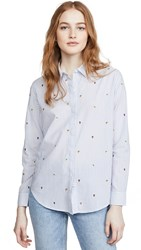 Rails Taylor Button Down Embroidered Citrus