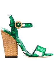 Dolce And Gabbana 'Keira' Sandals Green