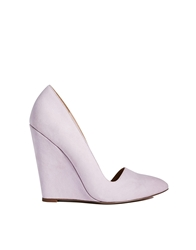 Asos Polished Pointed Wedges Lilac