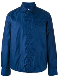 Aspesi Patch Pocket Shirt Jacket Men Polyamide Polyester M Blue