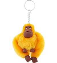 Kipling Fluffy Monkey Keyring 8Cm Sunset Yellow