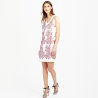 J.Crew Linen Sundress In Iridescent Sequin