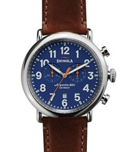 Shinola S0100047 Runewell Stainless Steel Watch Blue