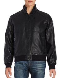 Calvin Klein Faux Leather Bomber Jacket