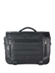 Kenneth Cole Reaction Double Flap Briefcase Black