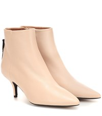 Joseph Leather Ankle Boots Beige