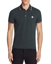 Moncler Tipped Regular Fit Polo Shirt Olive