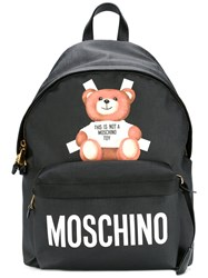 Moschino Teddy Bear Paper Cut Out Backpack Black