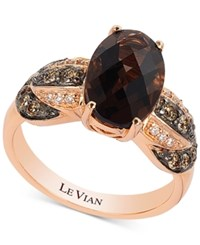 Le Vian Chocolatier Smoky Quartz 2 3 4 Ct. T.W. And Diamond 1 3 Ct. T.W. Ring In 14K Rose Gold