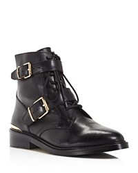 Vince Camuto Tokode Lace Up Combat Booties 100 Bloomingdale's Exclusive Black