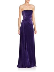 Ralph Lauren Kersten Strapless Velvet Gown Bright Purple