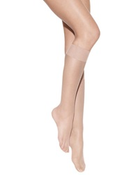 Hanes Pure Bliss Luxe Sheer Knee Highs Natural