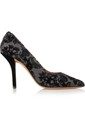 Damasco Flocked Canvas Pumps Givenchy