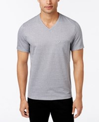 Alfani Men's V Neck Pocket T Shirt Slim Fit Active Steel Combo