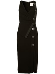 Dion Lee Sleeveless Fitted Midi Dress Black