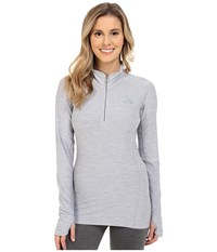 The North Face Motivation 1 4 Zip Pullover Tnf Light Grey Heather Women's Long Sleeve Pullover Gray