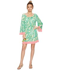 Lilly Pulitzer Getaway Cover Up Toucan Green Coco Loca Women's Dress
