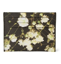 Givenchy Floral Print Faux Leather Cardholder Black